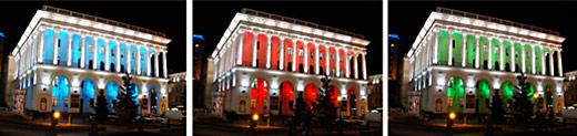 Выполнены работы по освещению киевской консерватории к Евро-2012